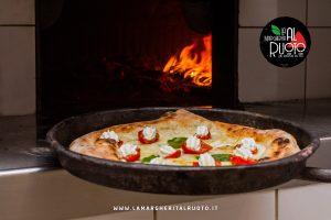 pizza nel ruoto alla margherita al ruoto